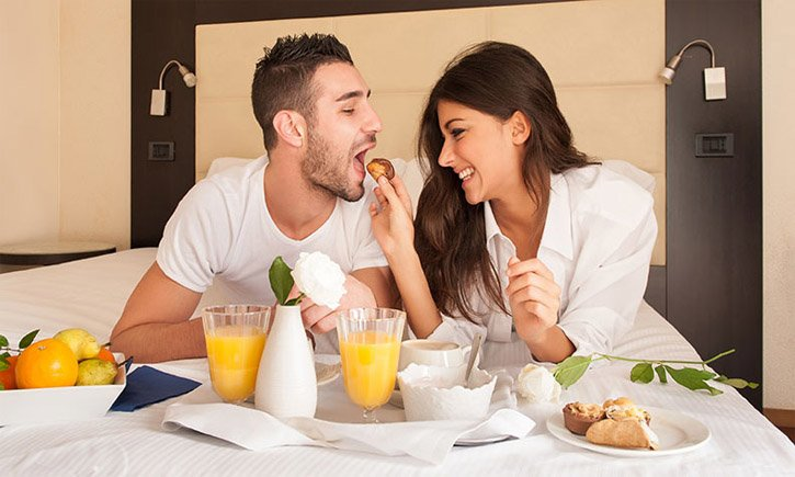 Романтичный завтрак